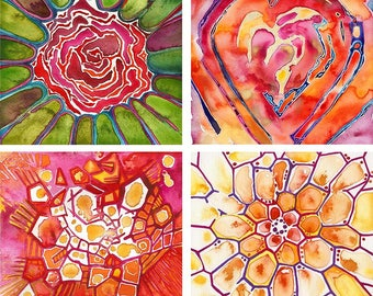 WATERCOLOR PRINT ~ Heart-centered art print for the home ~ Heart Chakra Opening ~ Love & Friendship <3