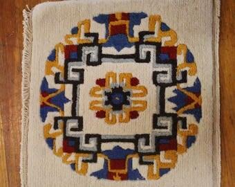 Tibetan Square Medallion Meditation Rug