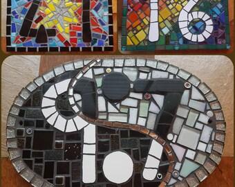 Mosaic Door number Plaques