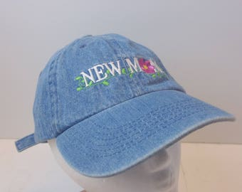 NEW MOM Denim 90s low profile dad hat strap