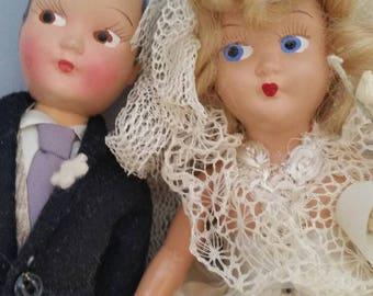 Marci Vintage Bride and Groom  MINT