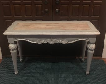Console Table /entry Table /serving Table /farmhouse Style / Gray, White  Washed