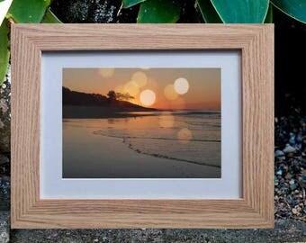 "8""x10"" Bokeh Island Sunset Print, Boho Photographic Wall Art, Magical Sunset Print"