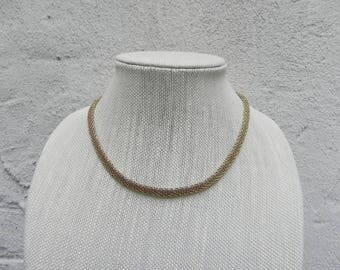 Napier Thick Gold Mixed Metals Necklace, Elegant and Rich