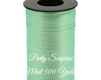 Mint Curling Ribbon 500 Yards Light Green Mint Balloon Ribbon Gift Wrap Bows Gift Tags Party Decoration Ribbon