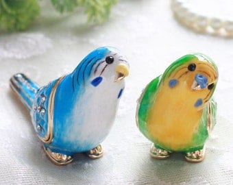 Lovely Cute Miniature parakeet jewelry box,Budgerigar,present,Bird ring case,Accessory Case,With a beautiful gift box