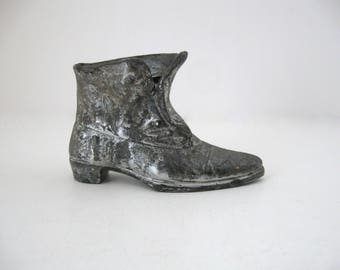 Antique Jennings Brothers JB Cast Metal Victorian Boot