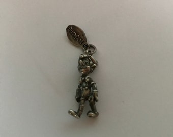 Vintage sterling silver Pinocchio WITH tag Walt Disney Productions