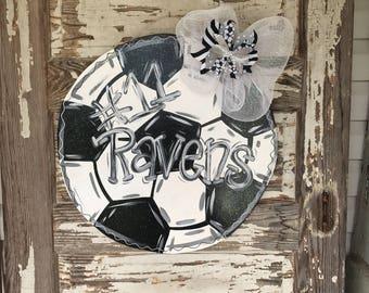 Soccer Door Hanger - Soccer Decor - Soccer Wreath - Soccer Sign - Soccer Sign