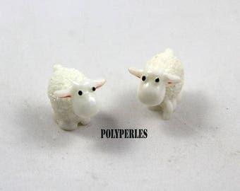 1 Mouton blanc fimo