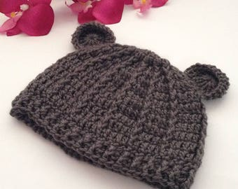 teddy bear hat, bear hat, newborn photo prop, crochet baby beanie winter hat, baby hat, baby boy hat, baby girl hat, baby boy hat, beanie