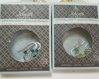Swarovski, Crystal, Jolee's Jewels, Earwires, Ear wires, Indicolite, Peridot, Blue, Green, NIB, Jewelry, Beading, Supply, Supplies