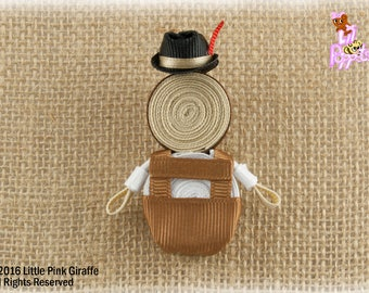 Lil' Poppet™ Hansel, Ribbon Sculpture Hair Clip or Brooch Pin