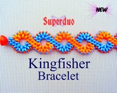 Tutorial Superduo Kingfisher Bracelet Pattern pdf Instant Download Easy Instructions by Butterfly Bead Kits