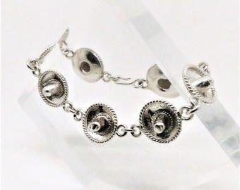 Sterling Bracelet - Vintage, Sterling Silver, Sombrero Hat