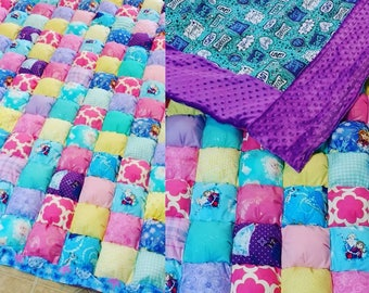 Throw Size Weighted Puff Blanket