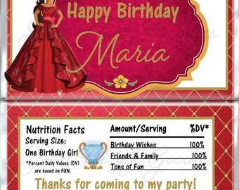 ELENA of AVALOR Birthday Chocolate Bar Wrappers - Princess Elena Party Candy Bar Wrap - Custom Disney Birthday Candy Wraps