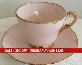 Shelley England   Rd 13488/57 Henley Demitasse Duo in  Pastel Pink