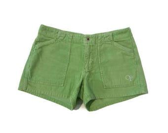 Vintage Lime Green Corduroy Shorts
