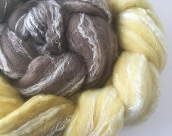 Hand dyed merino bamboo combed tops spinning fibre 100g