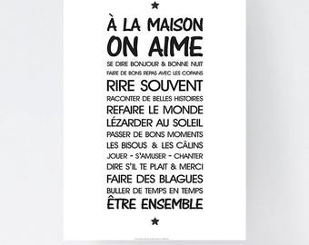 Printed Poster - A3 - Life Rule At Home