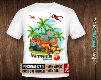 Dinosaur birthday shirt, Dinosaur birthday shirt family, Dinosaur birthday shirt iron on, Dinosaur birthday shirt boy