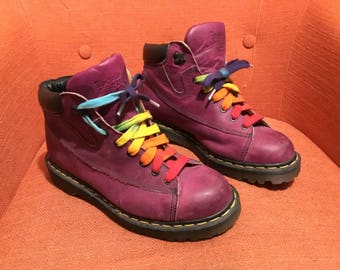 Sale Original Doc Martins Purple Perfect Condition Size 7 Hardly Worn