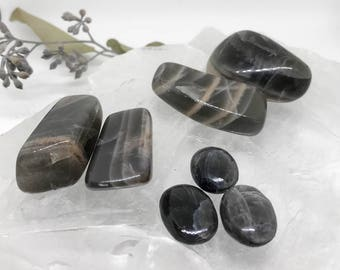 Tumbled Black Moonstone - For New Beginnings