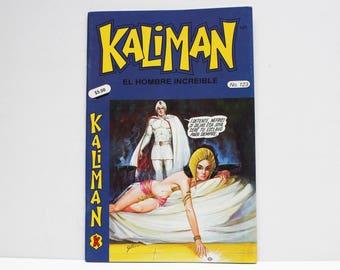 Kaliman El Hombre Increible No 123 El Faraon Sagrado Revista en Español Comic Book in Spanish RARE