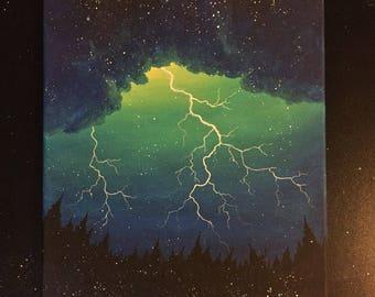 Lightning Burst Original Canvas Painting