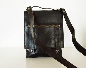 Black Leather Bag.