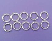 10 Pieces 925 Sterling Silver SPLIT RINGS Key Ring Type Charm Connector 5mm 6mm - Choose Size