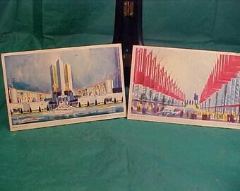 Seven (7) Unused Postcards 1933 Chicago Words Fair Century of Progress