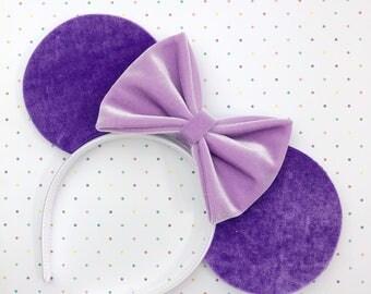 Purple Velvet Mouse Ears