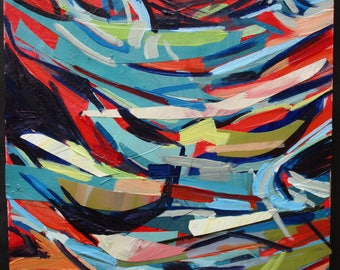 """Abstract painting 6"""" x 8"""""""