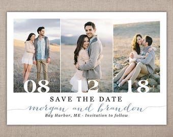 SAVE THE DATE - Printable Card, Save the Date Postcard, Wedding Announcement Card with Photo, Postcard Save the Date, Modern Save the Date