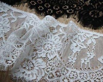 Eyelash Lace trim,16cm width Edge Mantilla Wedding Veil | Lace Bridal Veil | Lace Wedding Veil | Cathedral Lace Veil | Vintage Veil