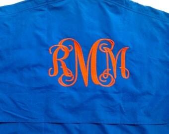 Fishing Shirt -  Monogrammed Cover Up - Bridesmaid Gift - Monogrammed Shirt - Cruise Shirt - Monogram Gift - Beach Shirt - Summer Shirt