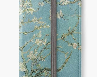 Folio Wallet Case for iPhone 8 Plus, iPhone 8, iPhone 7, iPhone 6 Plus, iPhone SE, iPhone 6, iPhone 5s - Almond Blossoms Van Gogh