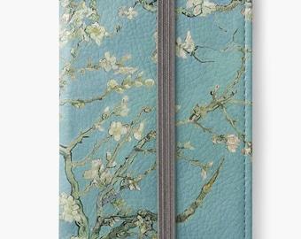 Folio Wallet Case for iPhone 8 Plus, iPhone 8, iPhone 7, iPhone 6 Plus, iPhone SE, iPhone 6, iPhone 5s - Almond Blossoms Van Gogh
