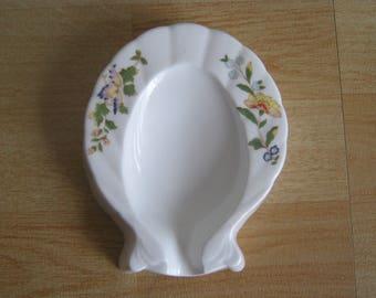 """Aynsley """"Cottage Garden"""" Spoon Rest"""