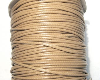 15ft Light Brown Korea Wax Polyester Cord Bracelet Necklace Cord 2mm( No.105)