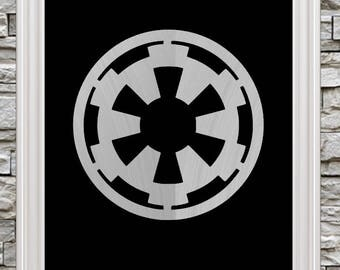 "New 8""x10"" Foil Art!  Empire from Star Wars Symbol / Emblem  - Ready to Frame"