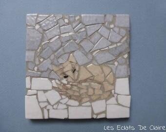 """Mosaic """"Polar Fox asleep"""""""