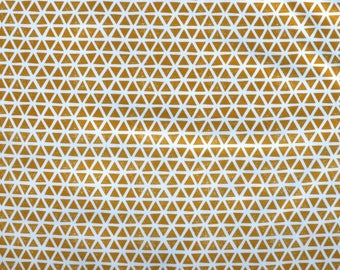 Fabric - Cloud 9 Cotton jersey - triangles - Citron - knit