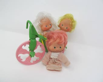 Strawberry Shortcake Lot of 3 dolls and a tricycle