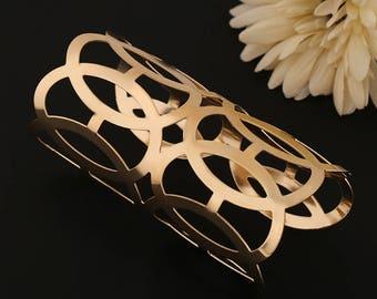 Statement Gold Cuff, Gold Bracelet Bangle, Boho Bracelets, 14k Bangle, Bracelets For Women,  Handmade Jewelry, Artisan Jewelry