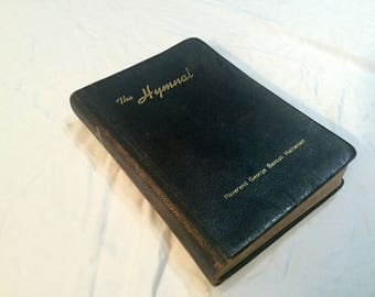 The Hymnal Containing Complete Orders of Worship Evangelical and reformed Church  Eden Publishing House 1957  Leather