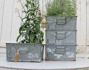 Garden Planter, Industrial Storage,  Industrial Decor, Metal Storage, Galvanized Storage, Industrial, Vintage Storage, Repurposed Drawers
