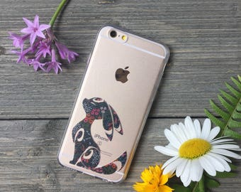 Floral Umbreon Phone Case for iPhone 5, SE, 6, 6 Plus, 7, 7Plus, 8, 8 Plus and X. TPU or Wood Options
